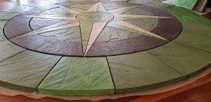 Green Compass Rose